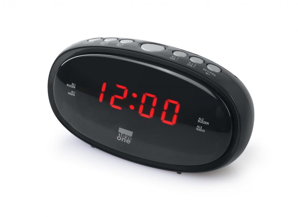 New-One Clock-radio CR100 Black, Alarm function
