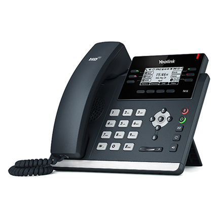 """Yealink SIP-T41S IP Phone, 2.7"""" 192x64-pixel graphical LCD with backlight, 6 VoIP accounts"""