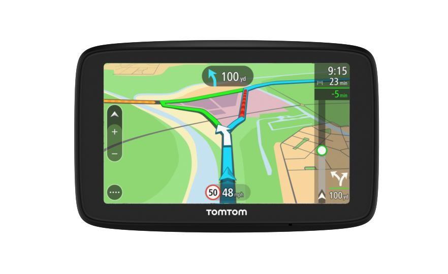 """TomTom VIA 53 navigaator 12,7 cm (5"""") Puutetundlik ekraan Fikseeritud Must"""