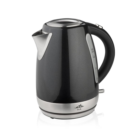 ETA Kettle ETA859890020 Standard kettle, Stainless steel, Black, 2200 W, 360° rotational base, 1.7 L