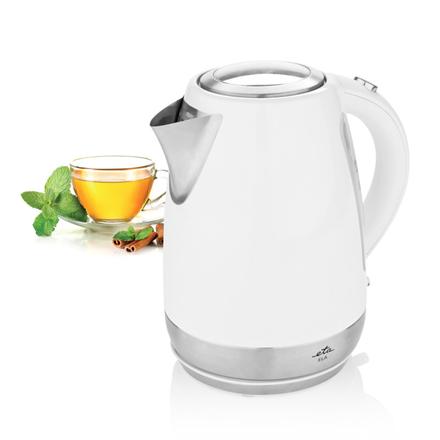 ETA Kettle ETA859890030 Standard kettle, Stainless steel, White, 2100 W, 360° rotational base, 1.7 L