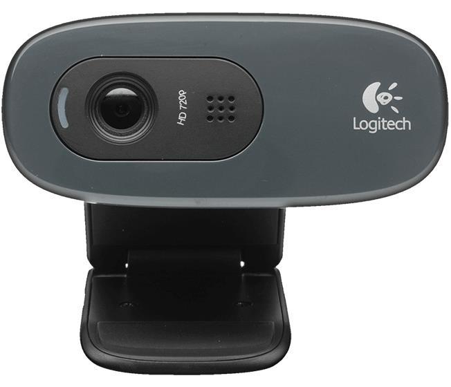 Logitech C270 HD WEBCAM veebikaamera 3 MP 1280 x 720 pikslit USB 2.0 Must