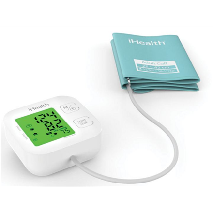 iHealth Track KN-550BT Wireless Bluetooth connection, White/Blue, Weight 438 g, Calculation of blood pressure (systolic and diastolic), Calculation of heart rate, Automatic
