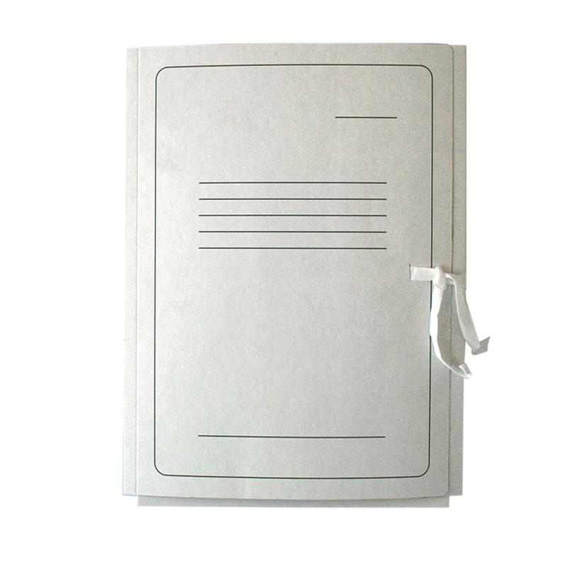 Kartongmapp SMLT, A4, paelkinnitus, valge