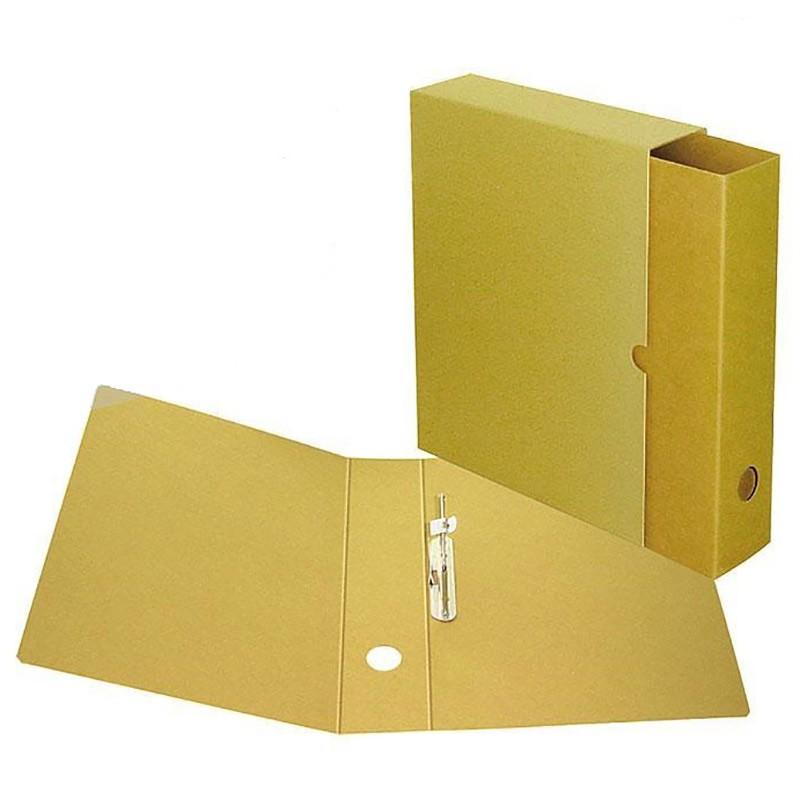 Arhiiviregistraator karbiga SMLT A4/70mm, piikmehhanismiga, pruun
