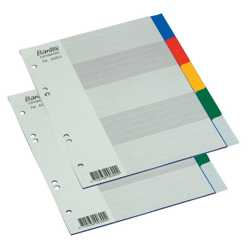 Vahelehed Bantex Strong Line A5, värvil-plastik PP, 1-5