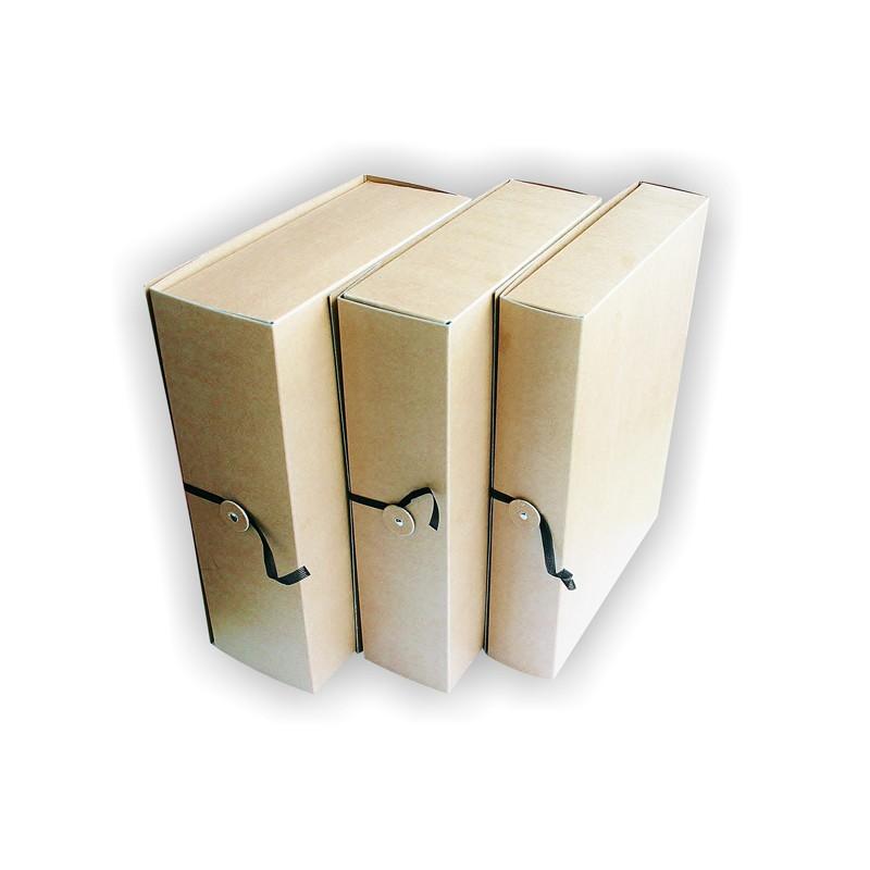 Arhiivikarp nööbi ja paelaga SMLT, 60mm, pruun