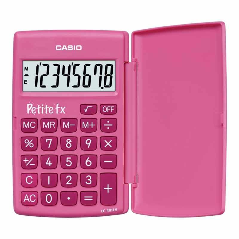 Kalkulaator CASIO LC-401, roosa