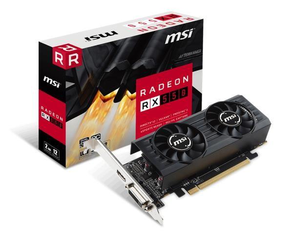 VGA PCIE16 RX 550 2GB GDDR5/RX 550 2GT LP OC MSI