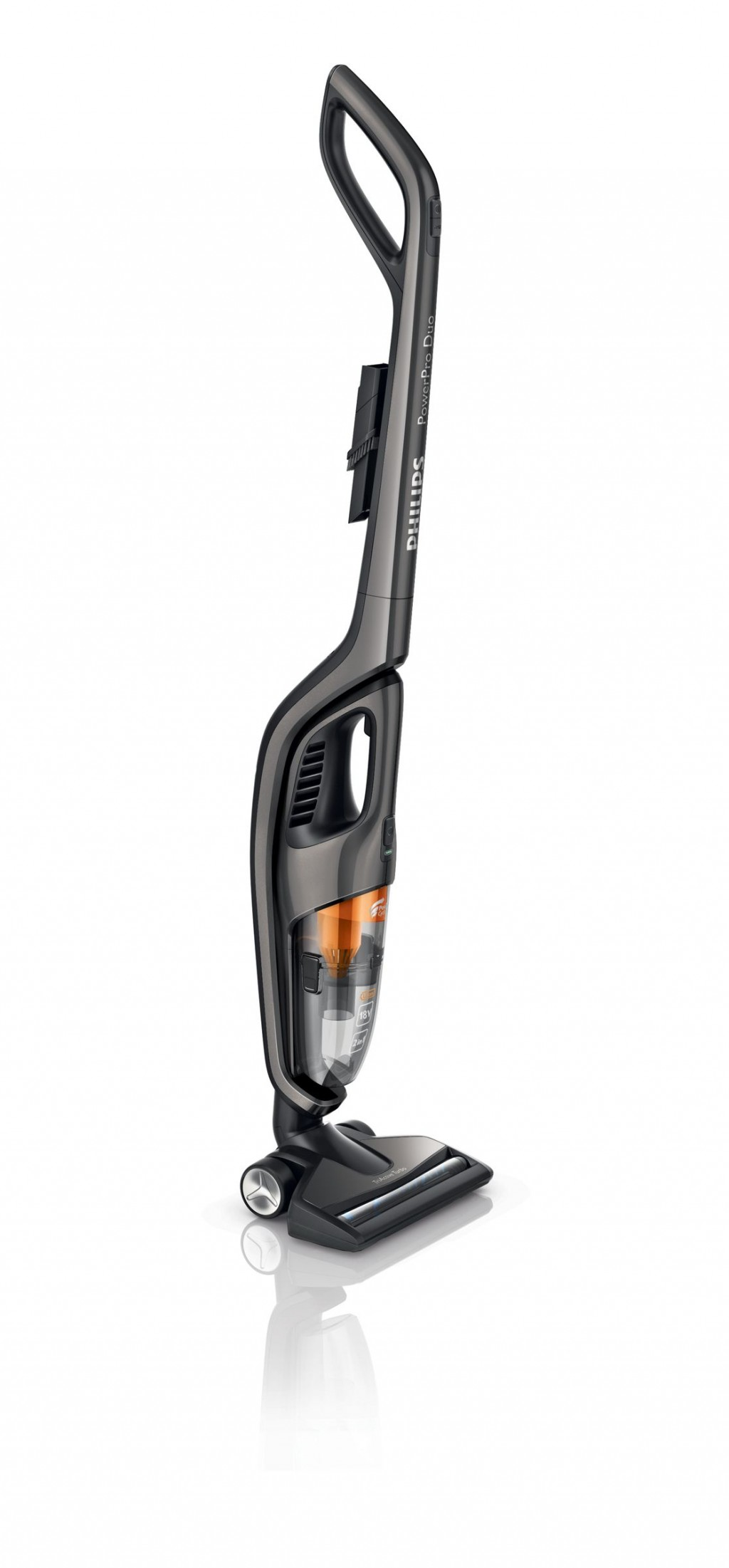 Philips Vacuum cleaner FC6168/01 Cordless operating, Handstick and Handheld, 18 V, Operating time (max) 40 min, 83 dB, Titanium, Warranty 24 month(s)
