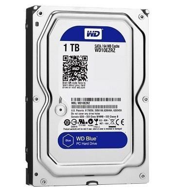 "HDD|WESTERN DIGITAL|Blue|1TB|SATA 3.0|64 MB|5400 rpm|3,5""|WD10EZRZ"