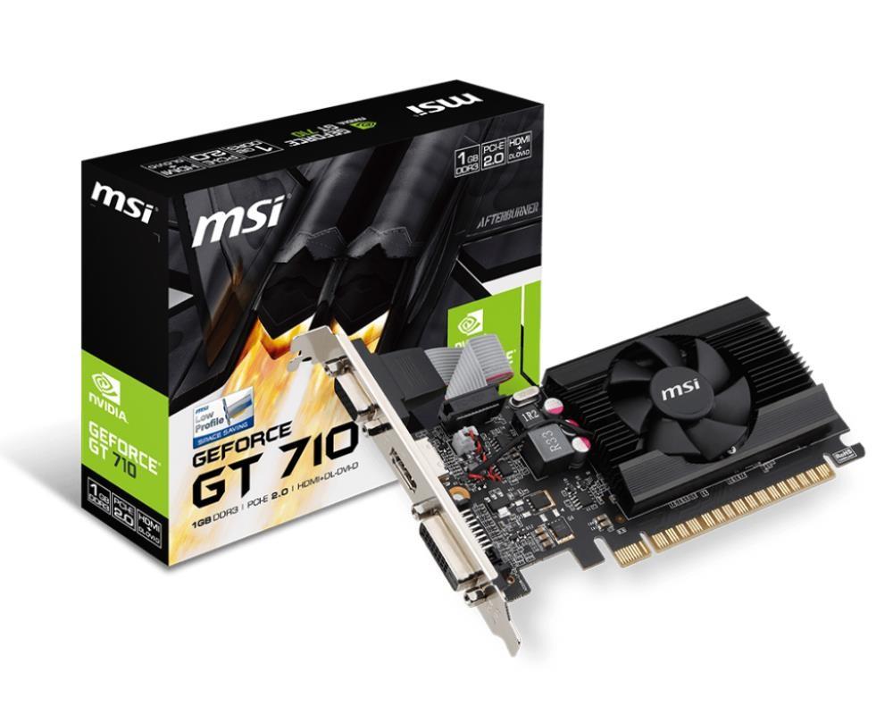 VGA PCIE16 GT710 1GB GDDR3/GT 710 1GD3 LP MSI