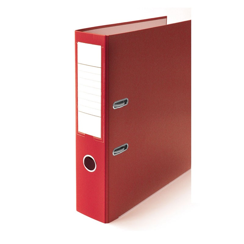 Registraator ELLER Eko A4, 75mm metallist allserv, punane