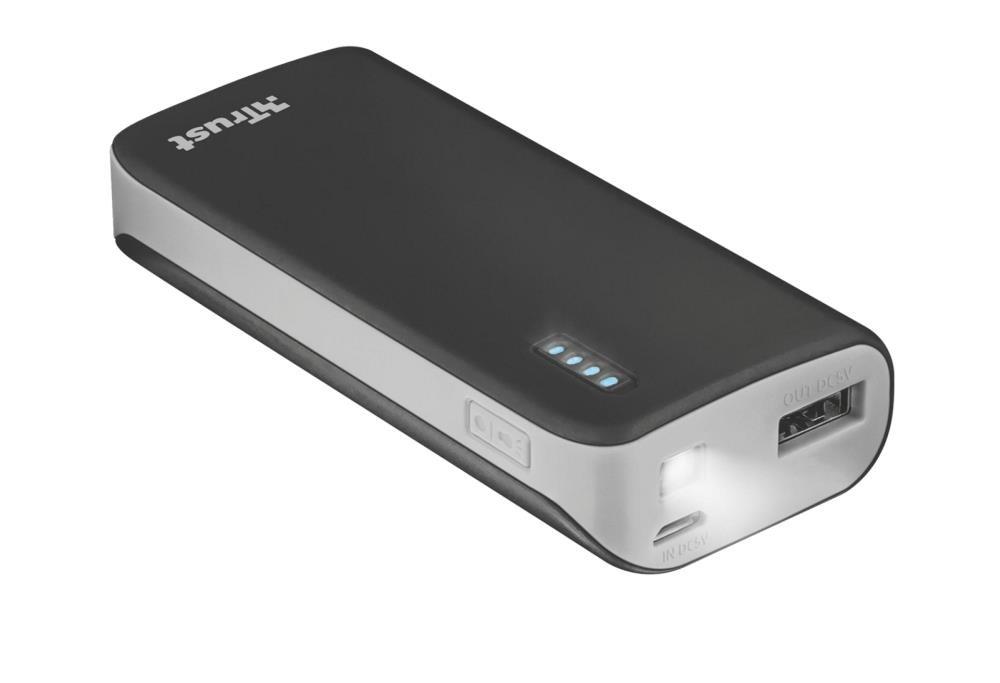 POWER BANK USB 4400MAH PORTAB./BLACK PRIMO 21224 TRUST