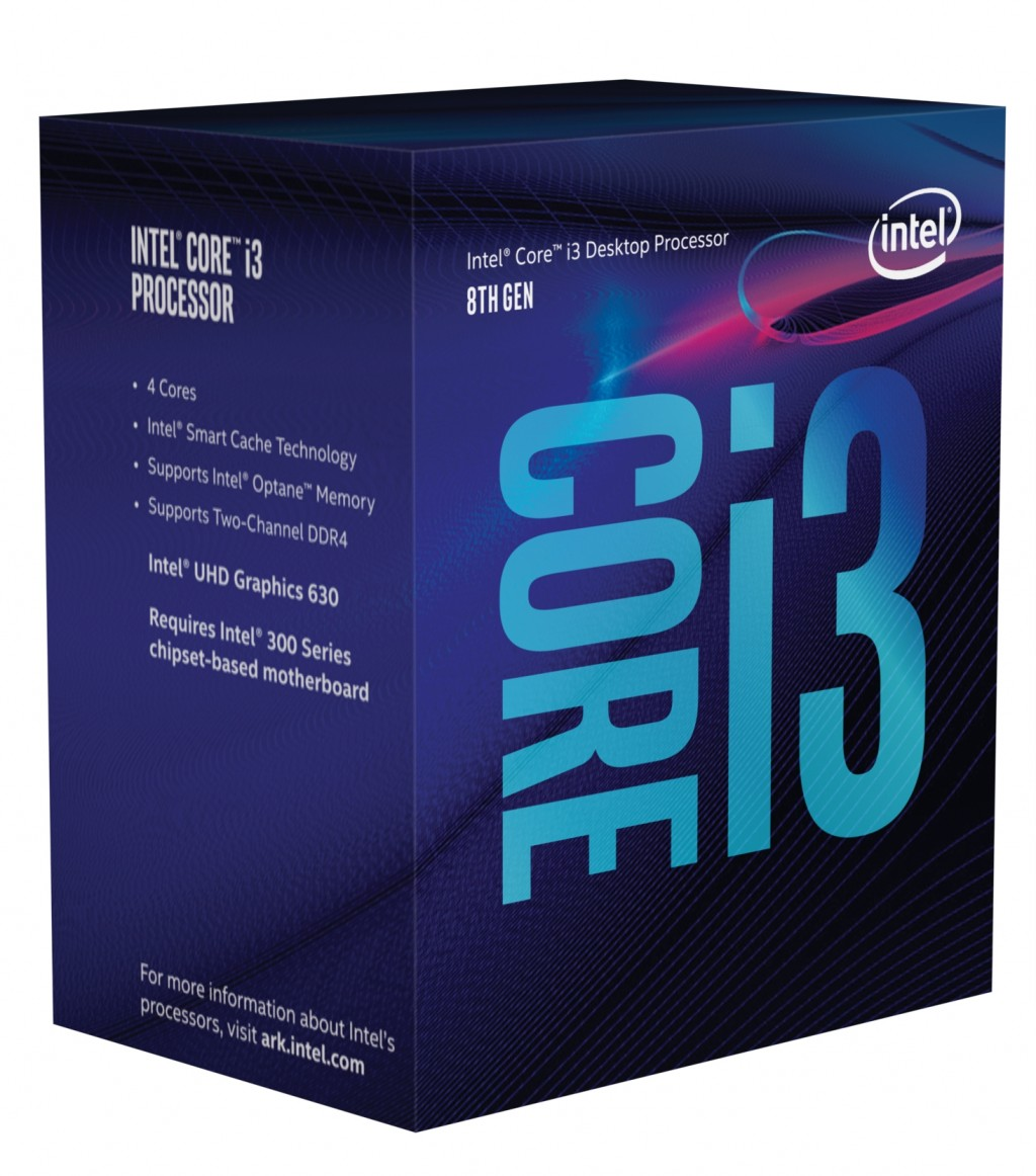 INTEL Core i3-8100 3,60GHz Boxed CPU