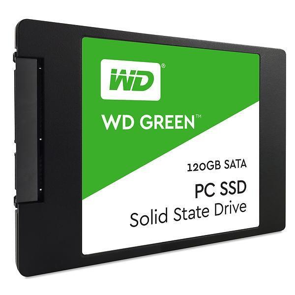 "SSD|WESTERN DIGITAL|Green|120GB|SATA 3.0|TLC|Read speed 545 MBytes/sec|2,5""|MTBF 1000000 hours|WDS120G2G0A"