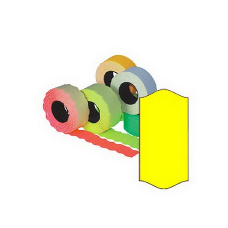 Markeerimislindid 26x12mm, kollane/ümar, 5 tk