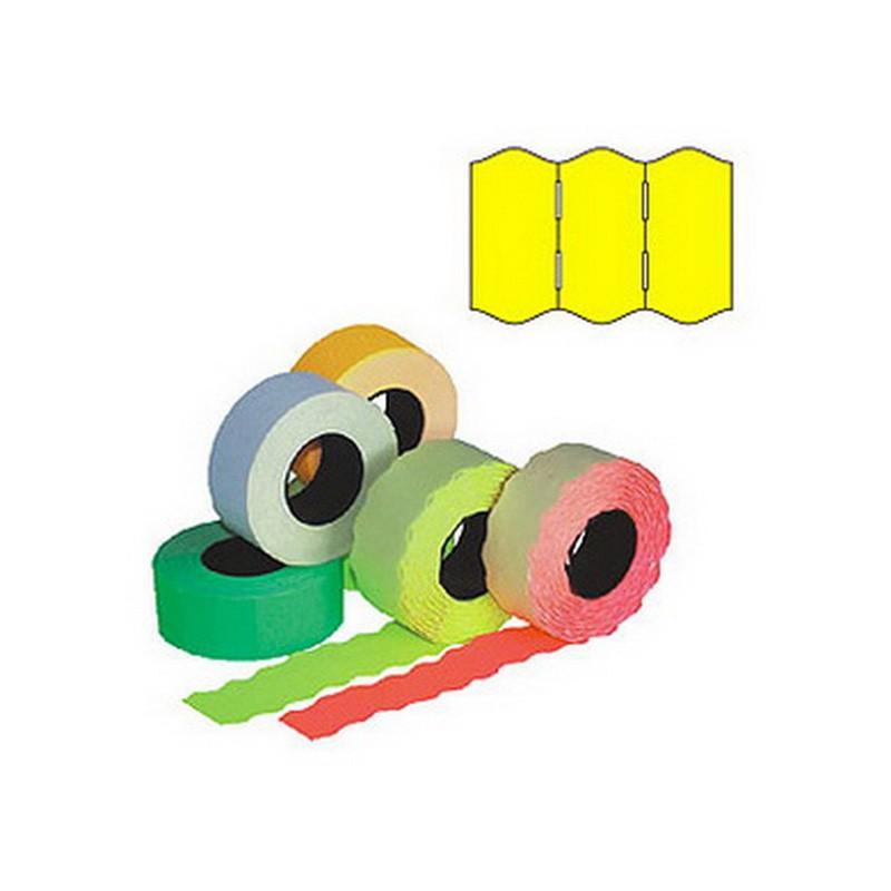 Markeerimislindid 26x16mm, kollane/ümar, 5 tk