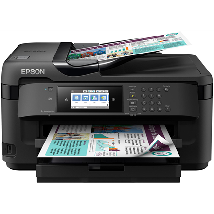Epson Multifunctional printer WF-7710DWF Colour, Inkjet, All-in-One, A3, Wi-Fi, Black