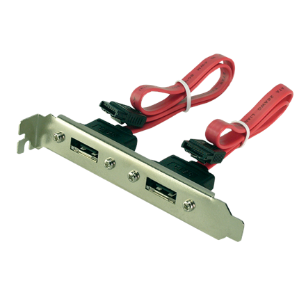 Logilink CS0006 Adapter with slot bracket 2-Port, SATA, e-SATA, 0.5 m