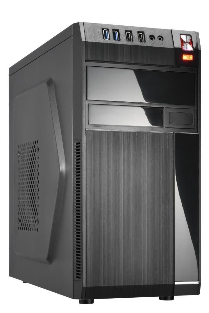 Case GOLDEN TIGER Baltimore 530 MiniTower MicroATX Colour Black BALTIMORE5302USB2+USB3