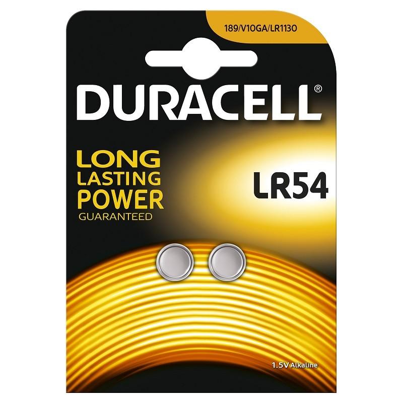 Patareid DURACELL LR54, 2 tk pakis