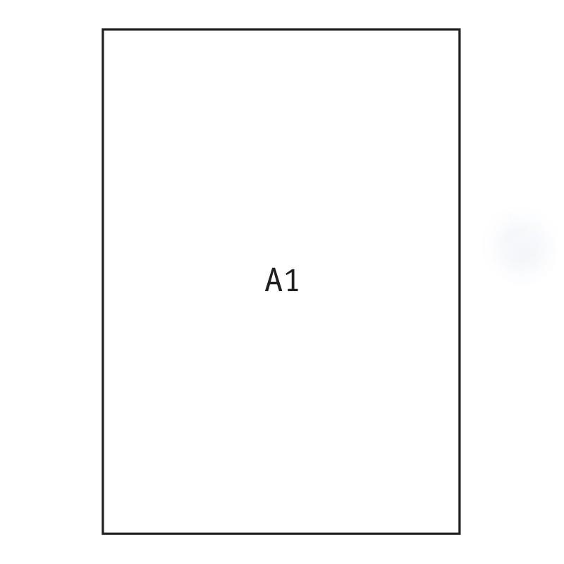 Joonistuspaber A1, 640x900mm, 170 g/m2, 20 lehte