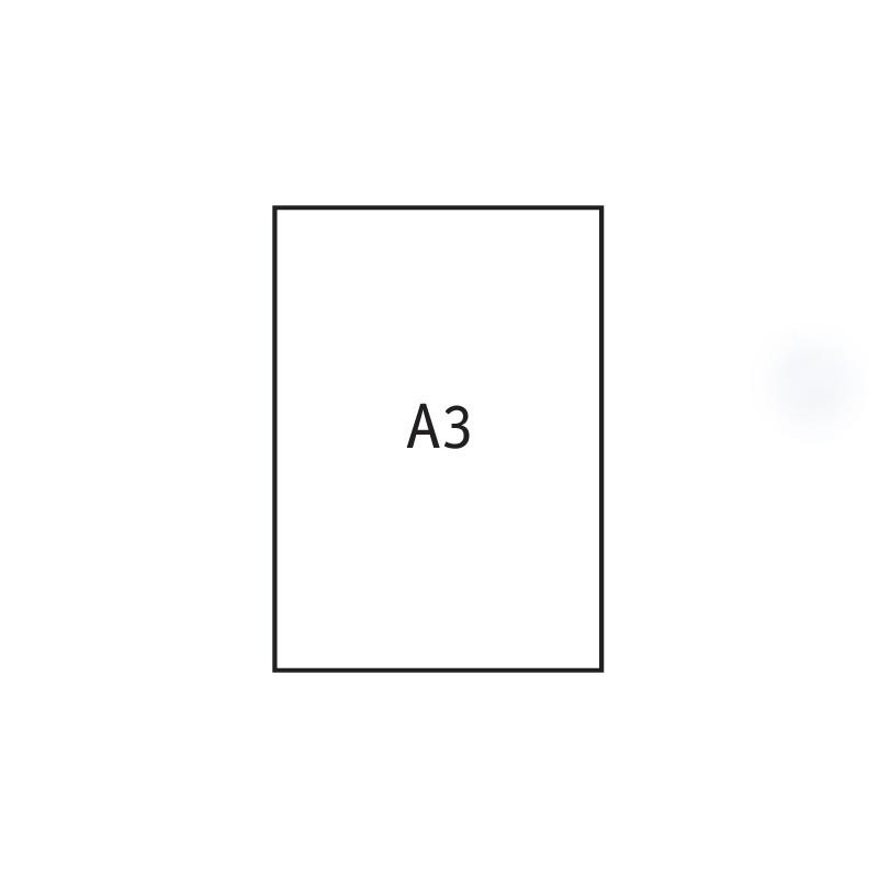 Joonistuspaber A3, 170 g/m2, 297 x 420 mm, 20 lehte