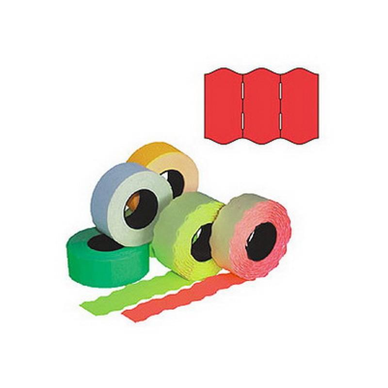 Markeerimislindid 26x16mm, punane/ümar, 5 tk