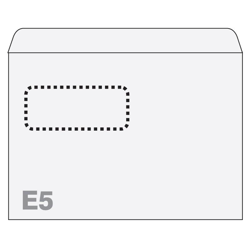 Ümbrikud Postfix aknaga (30x90) E5 RH 156x220, 1000tk