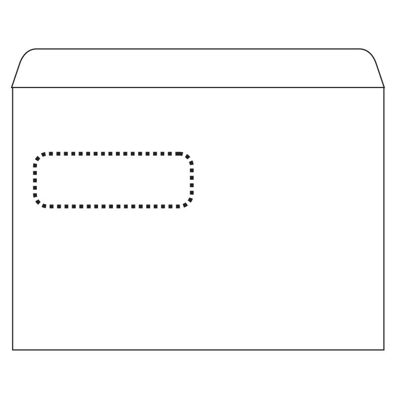 Ümbrikud PostSec aknaga (30x90) E5 RH 156x220 1000tk