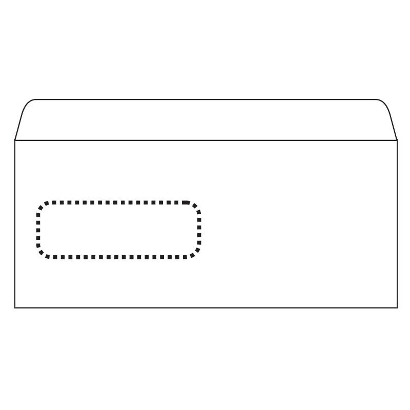 Ümbrikud PostSec aknaga (30x90) E65 RH 110x220 1000tk