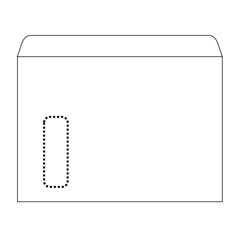 Ümbrikud Postac aknaga (95x35) E4 AH 220x312,  500tk