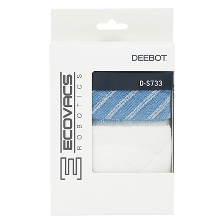 Ecovacs Wet/Dry Cleaning Cloths  D-S733  for DEEBOT M81, DEEBOT M85S, DEEBOT M85+, DEEBOT M88, DEEBOT R95, DEEBOT R96, DEEBOT R98