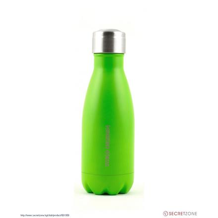 Yoko Design Isothermal Bottle  1336-7750F   Mat coat green, Capacity 0.26 L, Diameter 6.5 cm