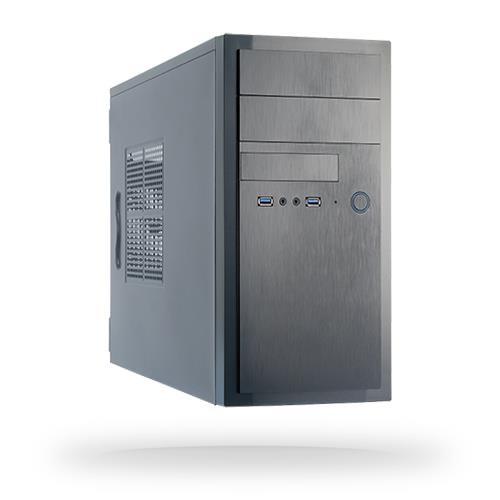 Case CHIEFTEC MiniTower MicroATX Colour Black HT-01B-OP