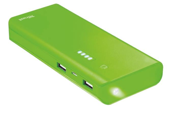 POWER BANK USB 10000MAH/GREEN PRIMO 22748 TRUST