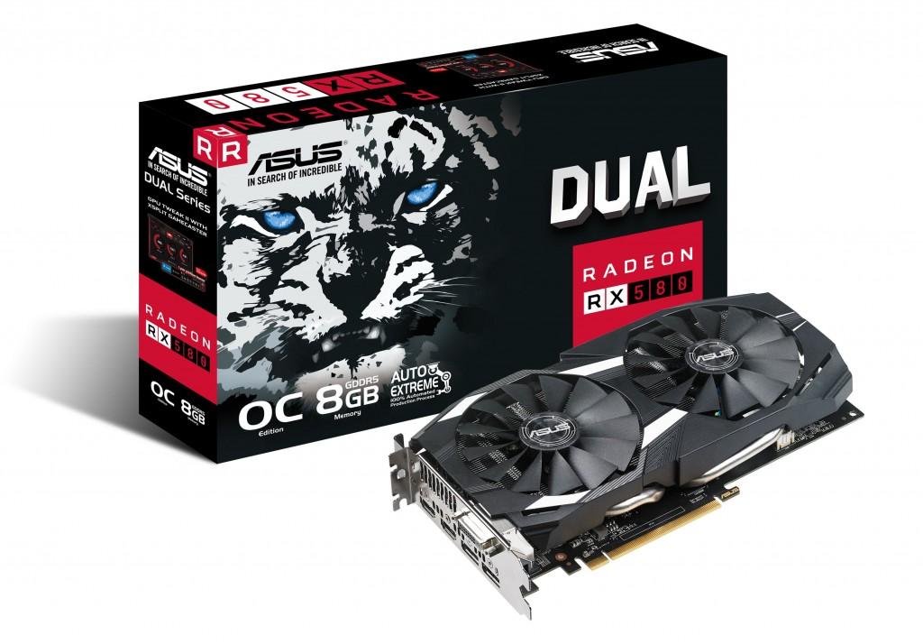 ASUS DUAL-RX580-O8G DVI 2xHDMI 2xDP