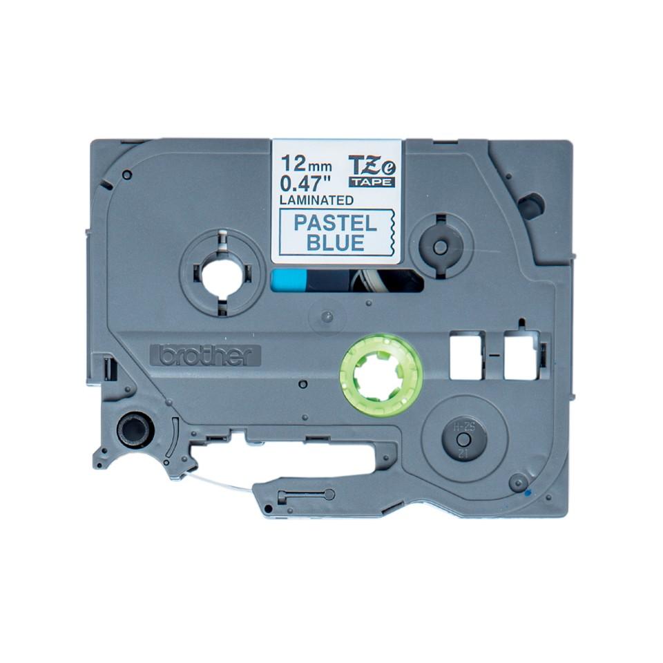 BROTHER tape black/pastel blue 12mm/4m