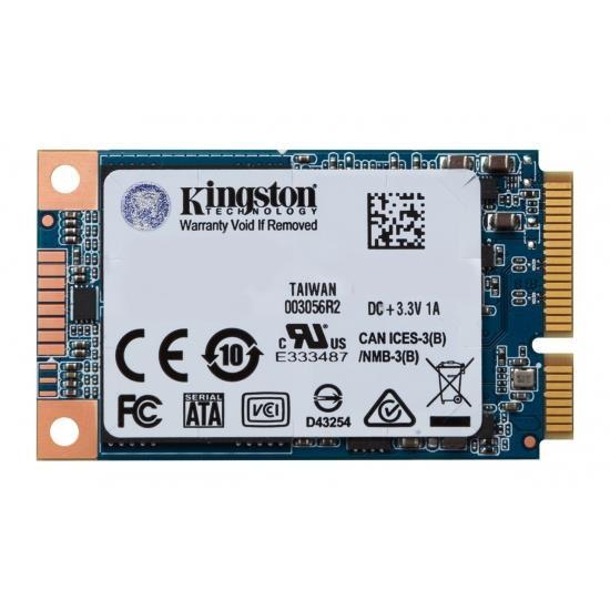SSD|KINGSTON|UV500|120GB|mSATA|SATA 3.0|TLC|Write speed 320 MBytes/sec|Read speed 520 MBytes/sec|MTBF 1000000 hours|SUV500MS/120G