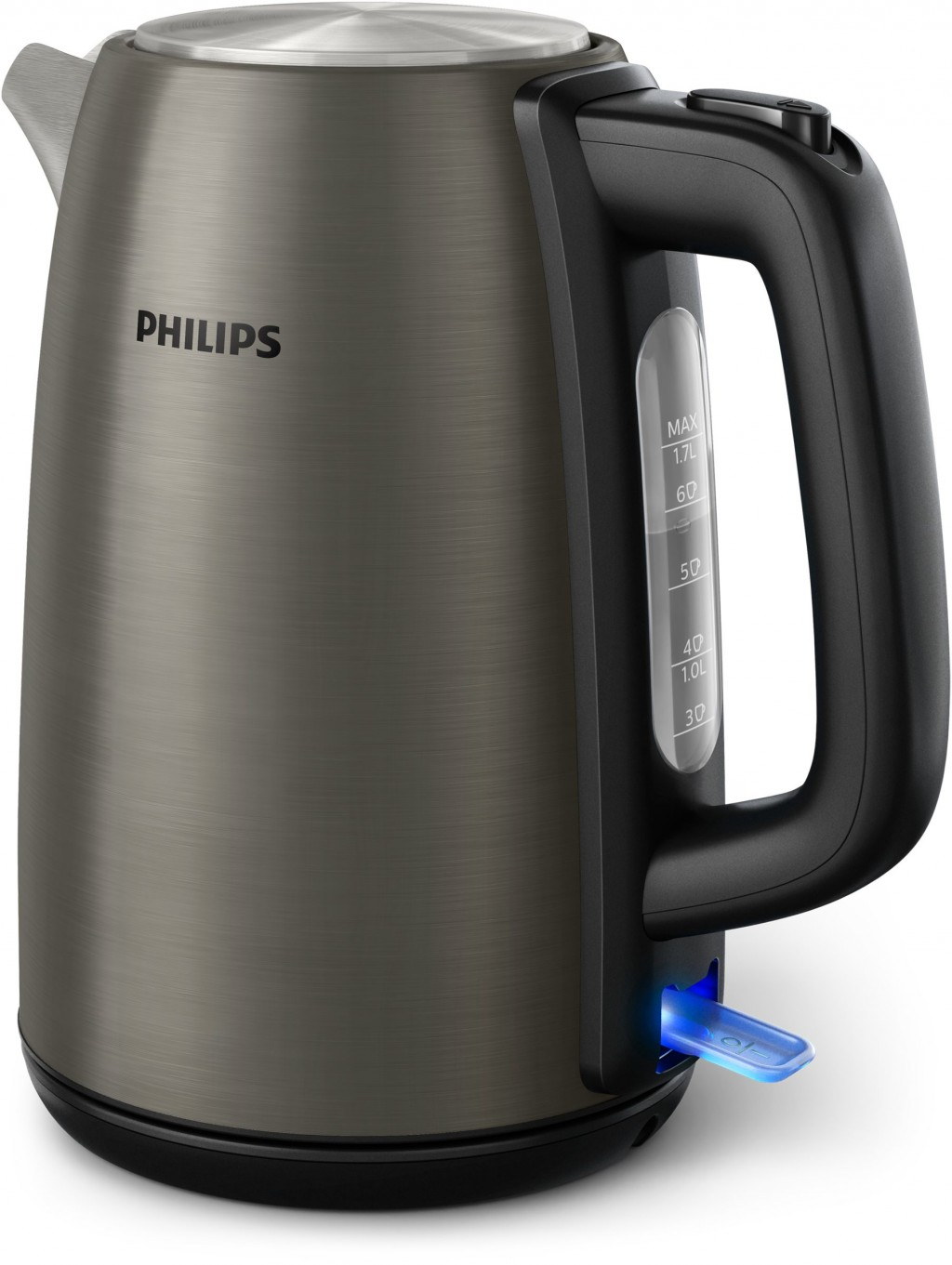 Philips Kettle HD9352/80 Standard, Stainless steel, Solar titanium colored metal, 2200 W, 360° rotational base, 1.7 L