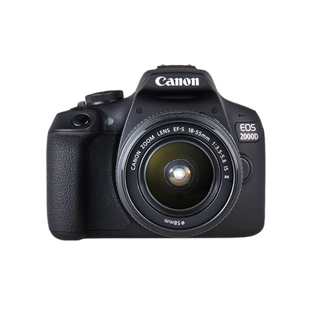 "Canon EOS 2000D 18-55 IS II EU26 SLR Camera Kit, Megapixel 24.1 MP, Image stabilizer, ISO 12800, Display diagonal 3.0 "", Wi-Fi, Video recording, APS-C, Black"