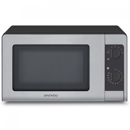 DAEWOO Microwave oven KOR-6647 20 L, Mechanical control, 700 W, Black/ grey, Free standing, Defrost function