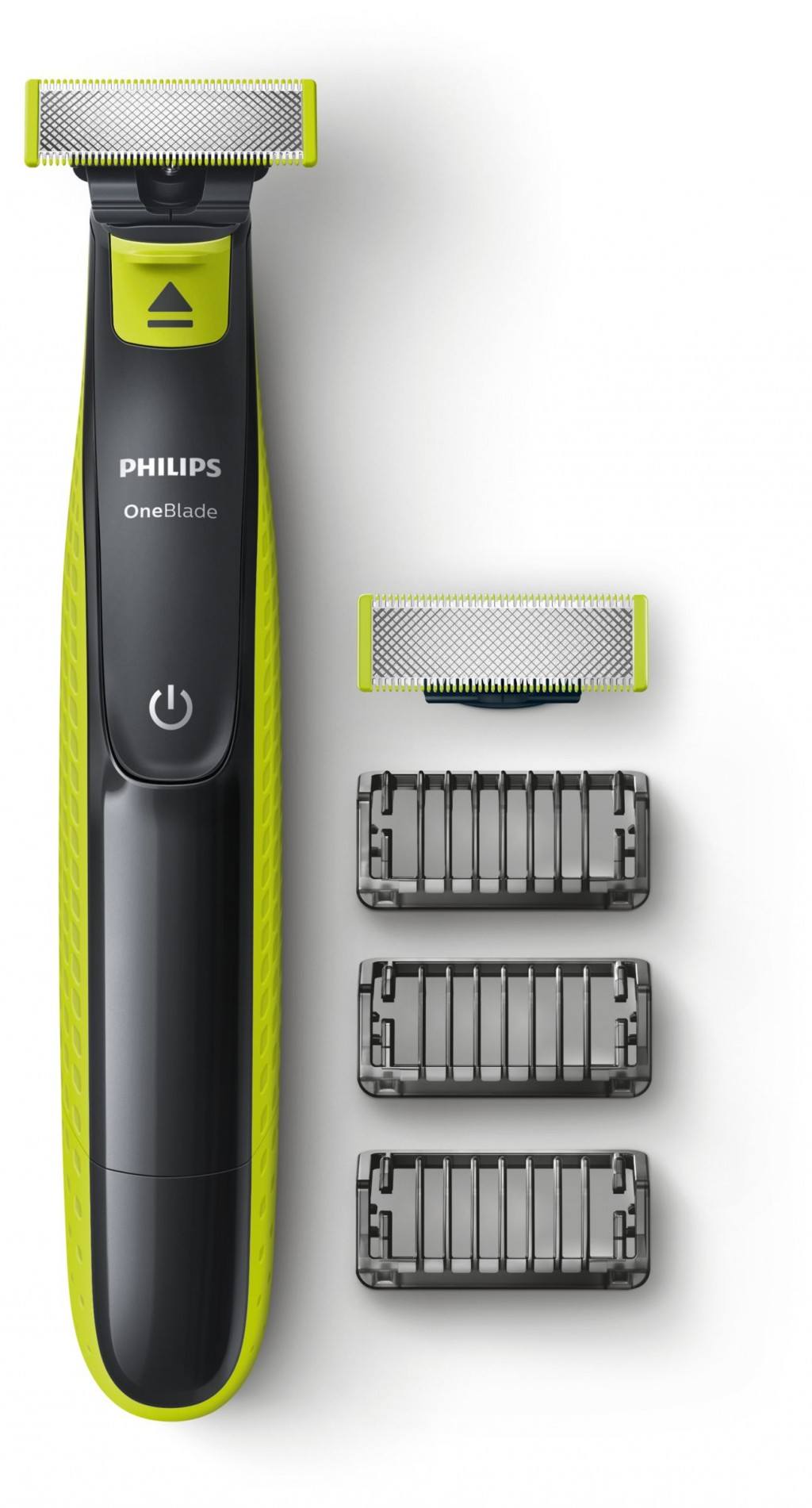 Philips Shaver QP2520/30  OneBlade Operating time (max) 45 min, Wet & Dry, NiMH, Lime green/Grey