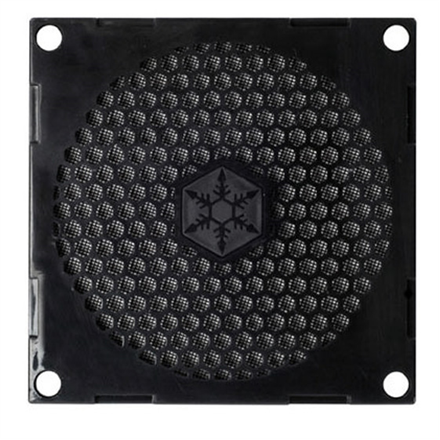 SilverStone Fan grille and filter kit SST-FF81B Black, 80 x 80 x 3.0 mm