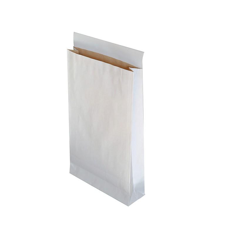 Kirjakotid Gusset 250x380x70+50 mm, kahekihiline, valge, 100 tk