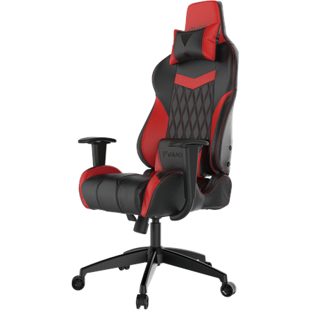 Gamdias Gaming Chair Achilles E2-L BR, Black/Red. Adjustable backrest, handlebars.  Gamdias