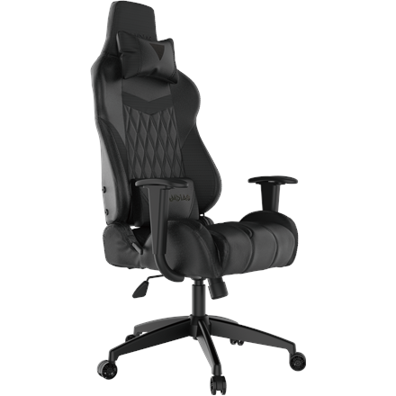Gamdias Gaming Chair Achilles E2-L B, Black. Adjustable backrest, handlebars.  Gamdias
