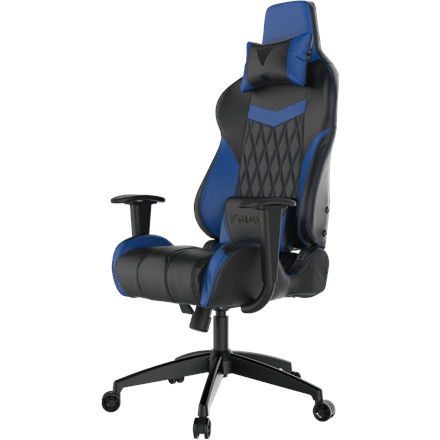 Gamdias Gaming chair Achilles E2-L, Black/Blue. Adjustable backrest and handlebars.  Gamdias