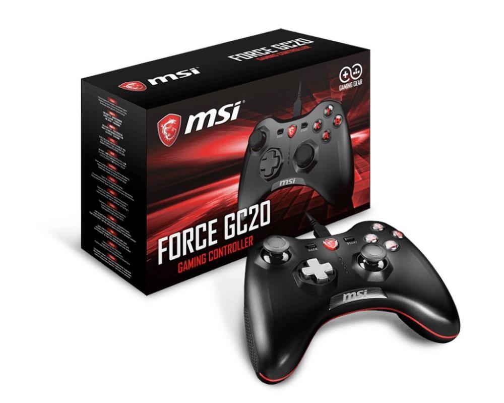 MSI Force GC20 Must USB 2.0 Juhtkang Analoog/digitaal Android, PC